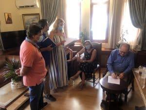Συναντήσεις του περιφερειάρχη Π. Νίκα στην Κόρινθο και υπογραφή συμβάσεων