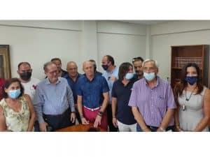 Συμβάσεις στην Κορινθία υπέγραψε ο περιφερειάρχης Πελοποννήσου Παναγιώτης Νίκας