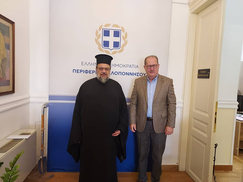 Συνάντηση του περιφερειάρχη Πελοποννήσου Π. Νίκα με τον Μεσσηνίας Χρυσόστομο