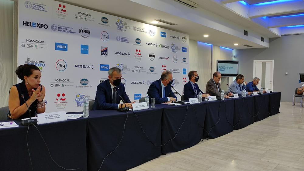 """Η προοπτική """"αντένας"""" της ΔΕΘ στη Μεγαλόπολη τονίστηκε από τον περιφερειάρχη Πελοποννήσου Π. Νίκα στη συνέντευξη σήμερα στη Θεσσαλονίκη"""