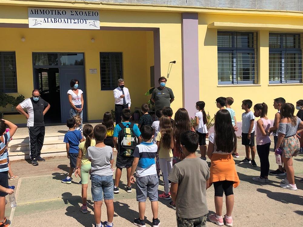 Επίσκεψη του αντιπεριφερειάρχη Μεσσηνίας στο Δημοτικό Σχολείο Διαβολιτσίου