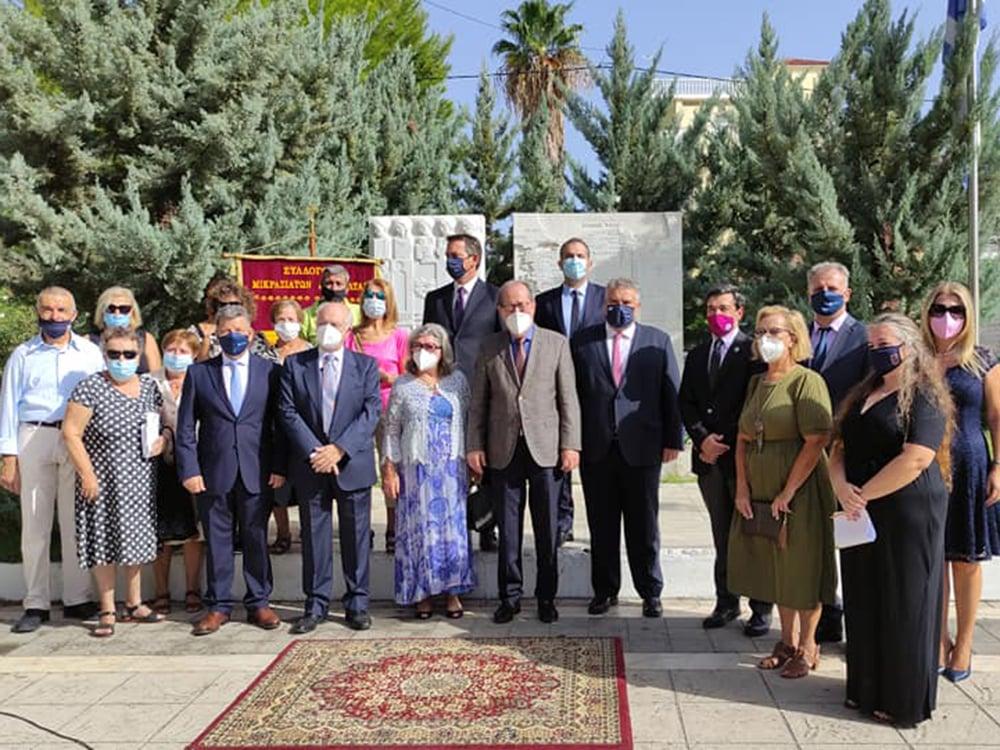 Ο περιφερειάρχης Πελοποννήσου Π. Νίκας στην εκδήλωση που έγινε στην Καλαμάτα για την ημέρα εθνικής μνήμης της γενοκτονίας των Ελλήνων της Μικράς Ασίας από το τουρκικό κράτος