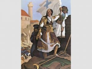 Ο Παναγιώτης Κεφάλας υψώνει τη σημαία της Ελευθερίας στα τείχη της Τριπολιτσάς, Peter von Hess