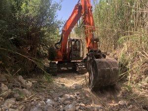 Καθαρισμοί ρεμάτων στις πυρόπληκτες περιοχές της Ανω Μεσσηνίας