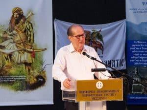 Ο περιφερειάρχης Πελοποννήσου Π. Νίκας στην εκδήλωση για τους Ντρέδες στο κάστρο της Καλαμάτας, με ομιλητή τον τ. Πρόεδρο της Δημοκρατίας Π. Παυλόπουλο