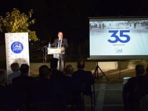 Ο περιφερειάρχης Πελοποννήσου Π. Νίκας στην εκδήλωση μνήμης για τους σεισμούς της Καλαμάτας το 1986