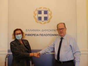 Συνάντηση του περιφερειάρχη Πελοποννήσου Π. Νίκα με την Μ. Σούκουλη